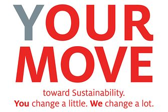 "Logo ""(Y)OUR MOVE toward Sustainability""-Kampagne"