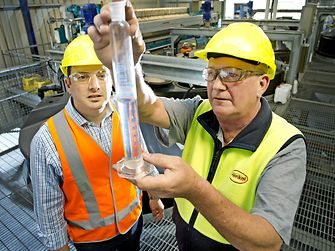 Inspecting wastewater quality in the Kilsyth plant