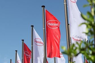 Henkel logo on flags at AGM 2016