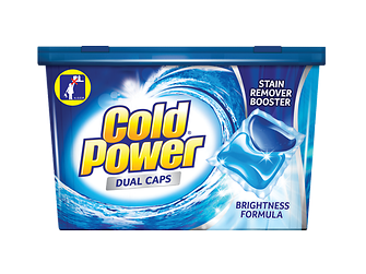 The new Cold Power Dual Caps packaging.