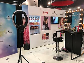 The Schwarzkopf showcase, which won the Best Health and Beauty Display award at Foodstuffs Expo 2018.